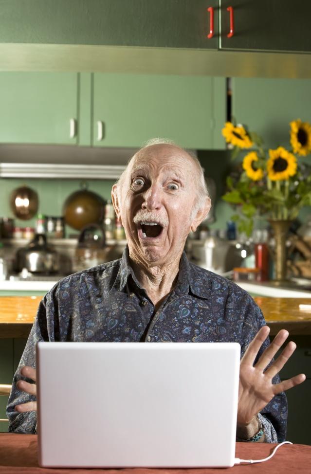grandpa, computer, facebook, skype